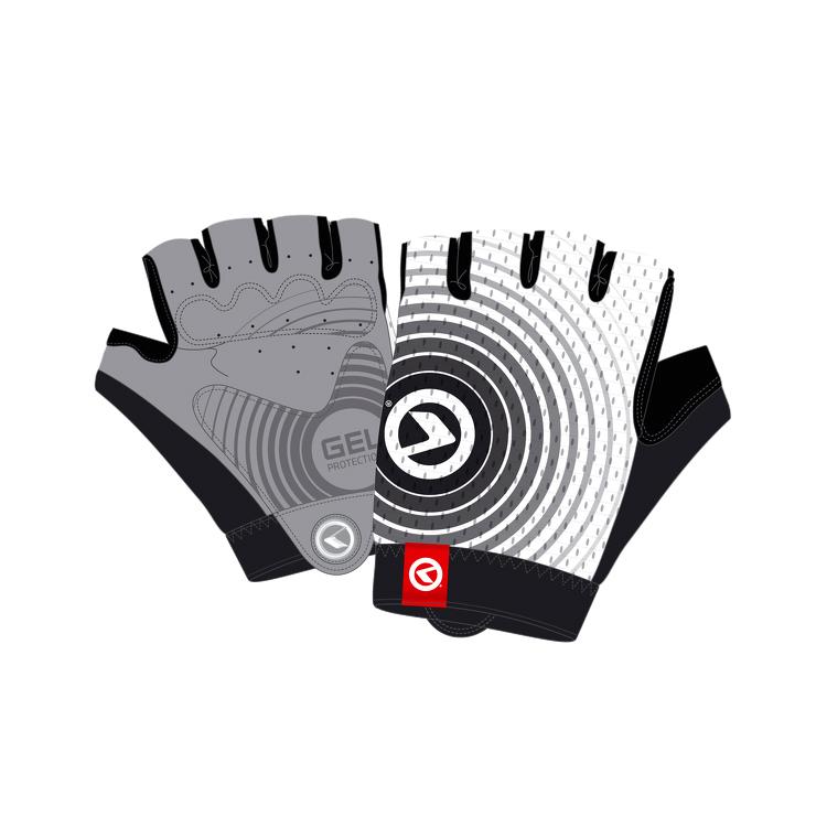 Cyklo rukavice Kellys Instinct Short bielo-čierna - XL