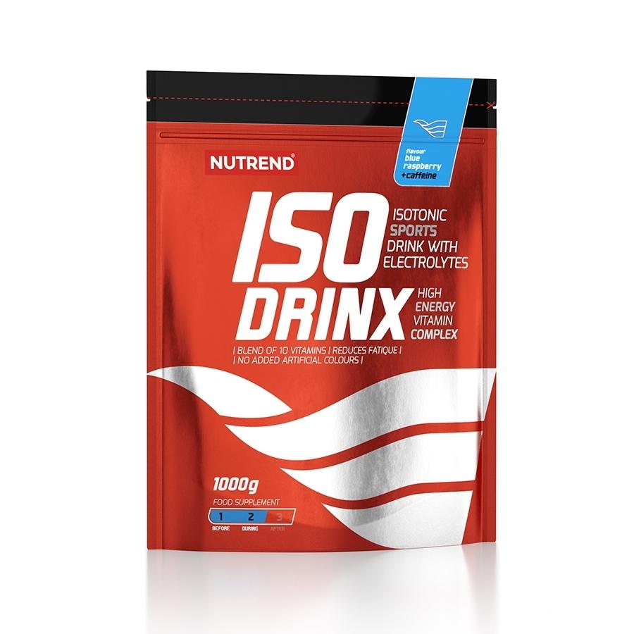 Isotonický nápoj Nutrend Isodrinx with caffeine 1000 g modrá malina