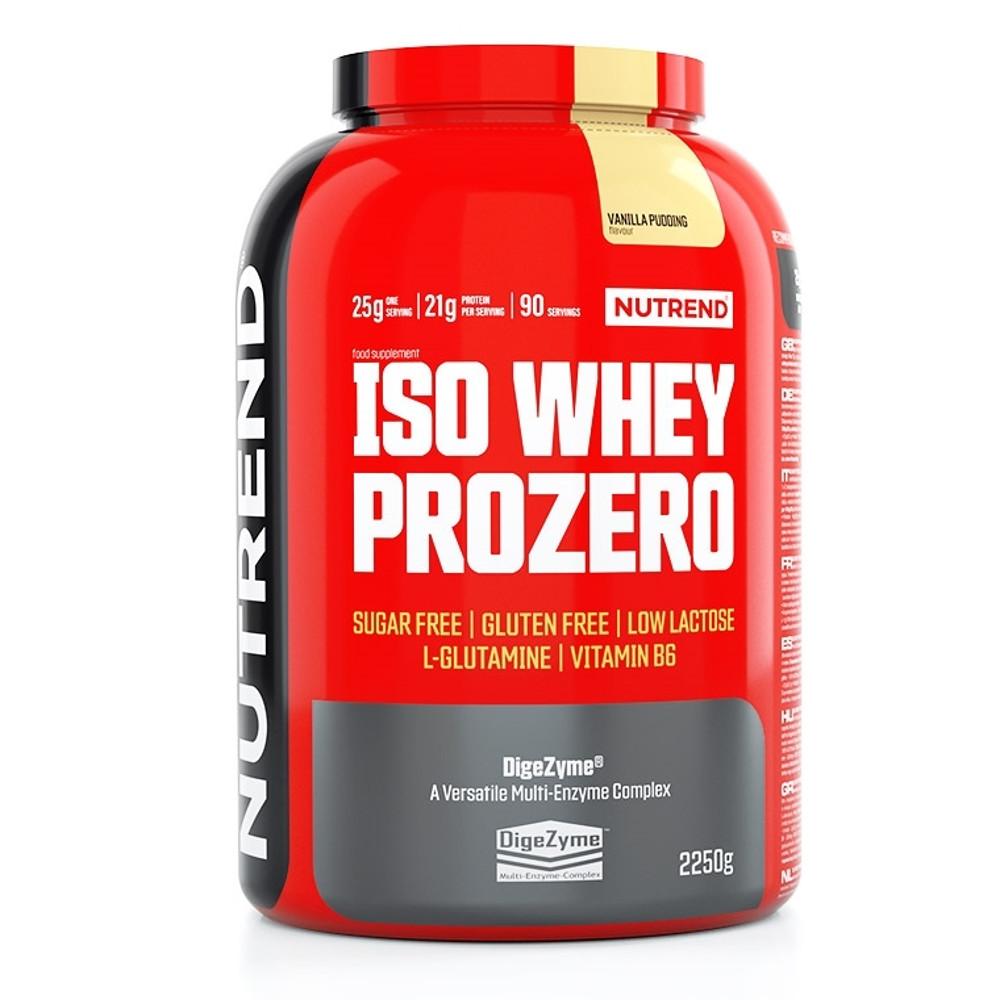 Práškový koncentrát Nutrend ISO WHEY Prozero 2250 g pudingová vanilka
