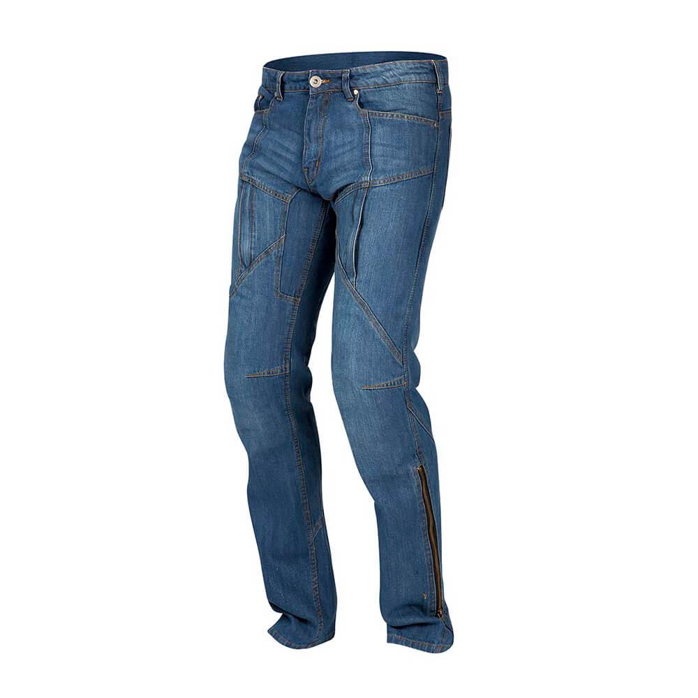 Pánske jeansové moto nohavice REBELHORN Hawk modrá - 30