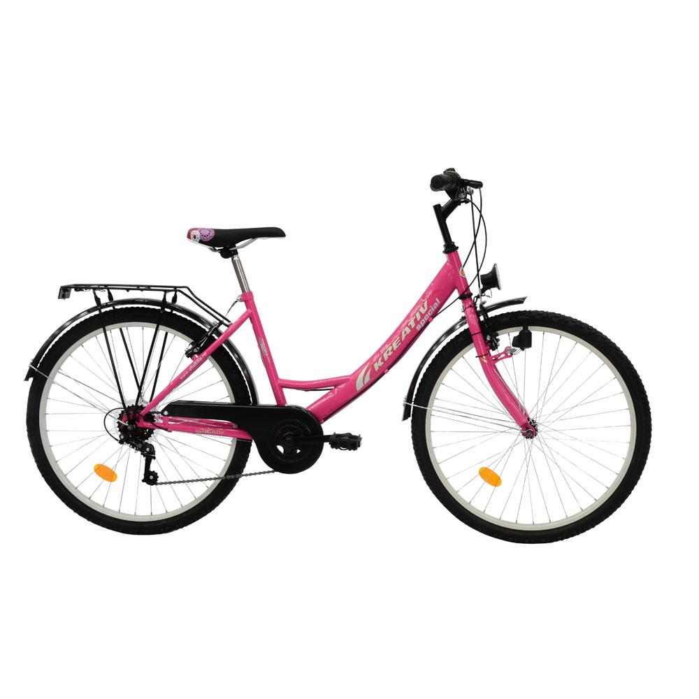 Dámsky trekingový bicykel DHS 2614 ružová - Záruka 10 rokov