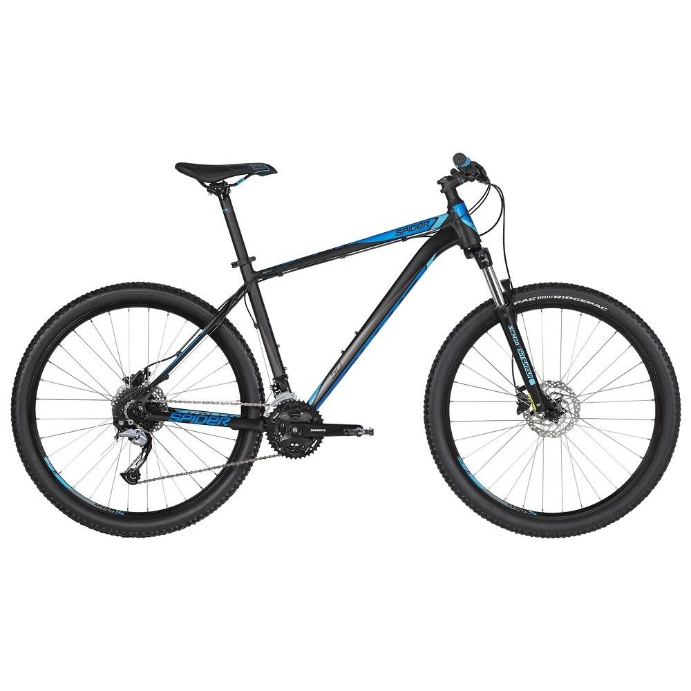"Horský bicykel KELLYS SPIDER 50 27,5"" - model 2019 Black Blue - S (17'') - Záruka 10 rokov"