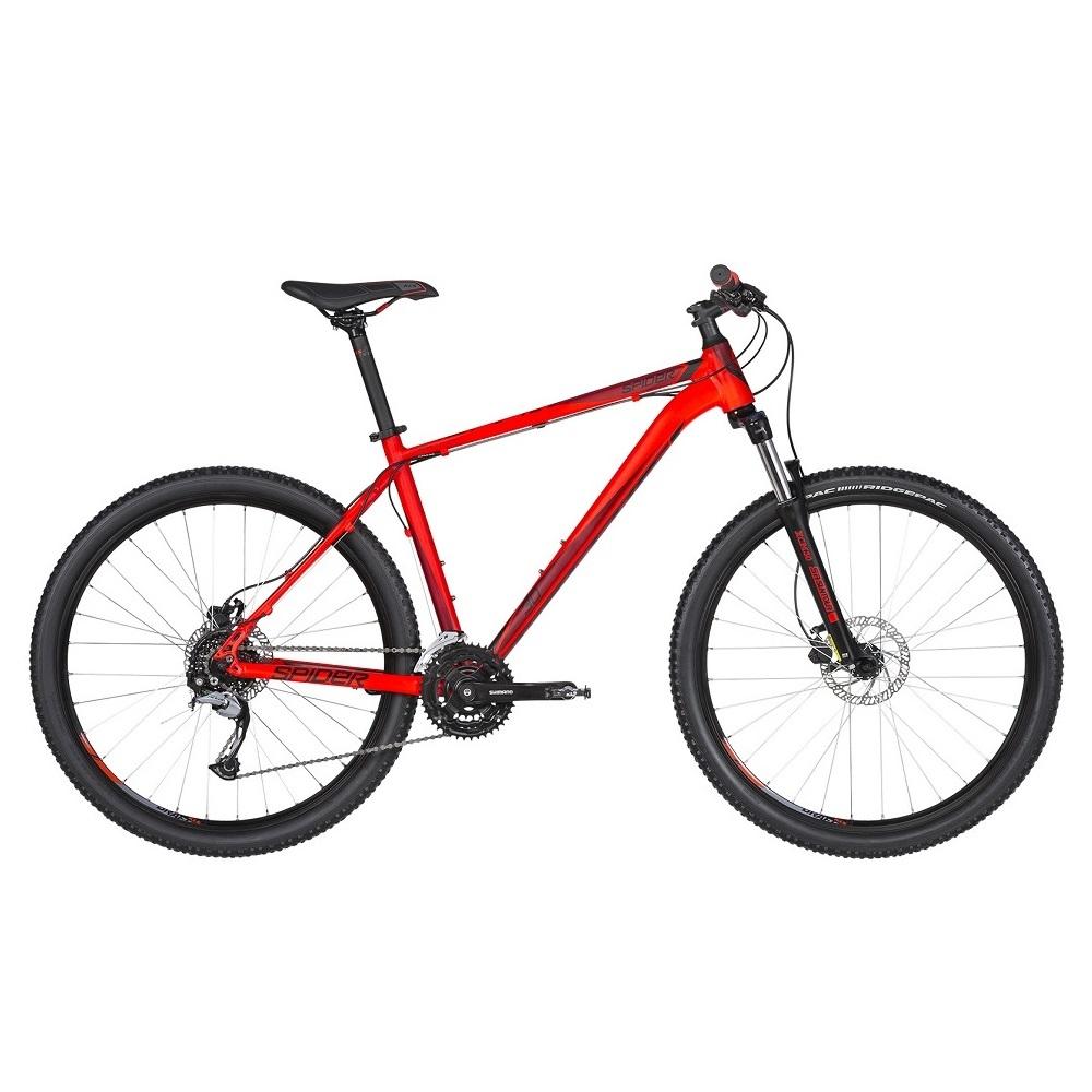 """Horský bicykel KELLYS SPIDER 30 27,5"""" - model 2019 Red - XS (15"""") - Záruka 10 rokov"""