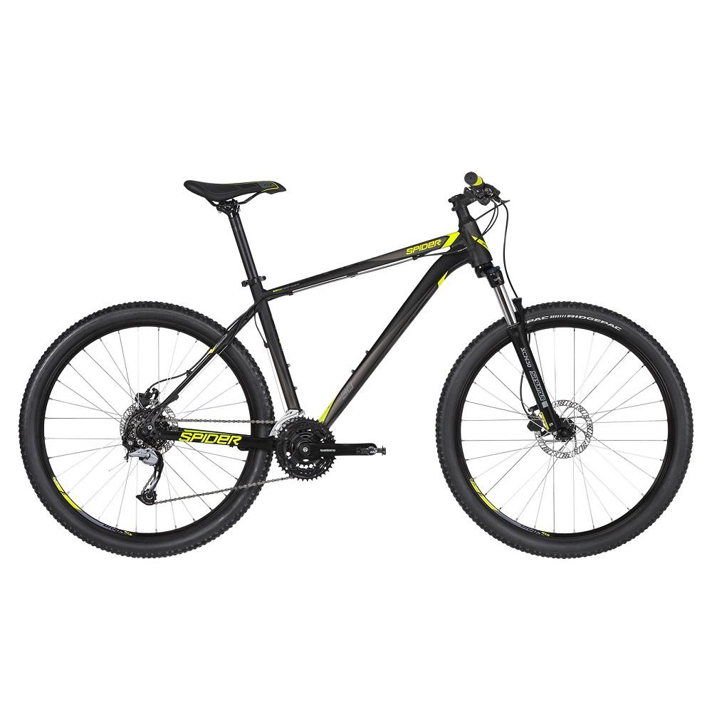 """Horský bicykel KELLYS SPIDER 30 27,5"""" - model 2019 Black - XS (15"""") - Záruka 10 rokov"""