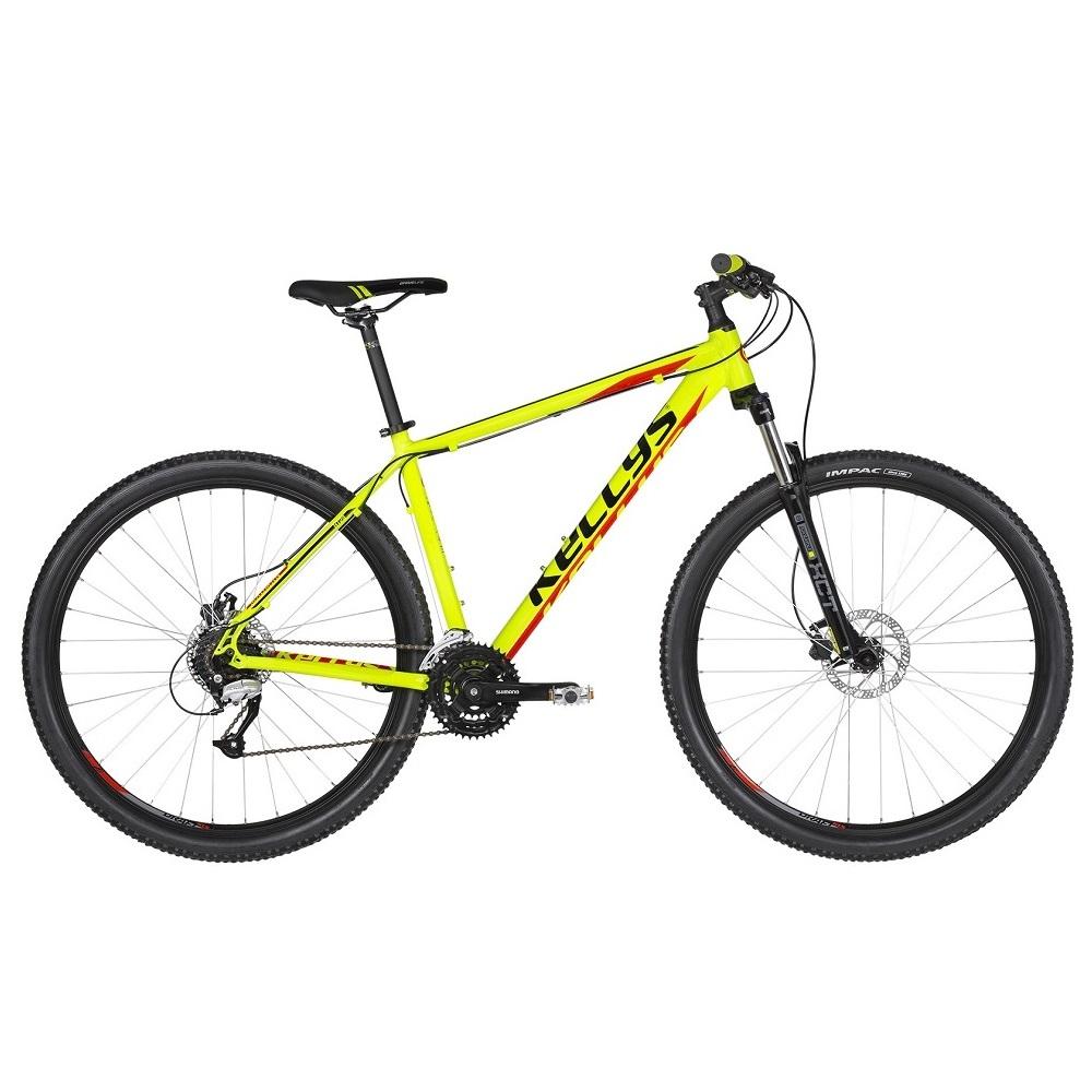 "Horský bicykel KELLYS MADMAN 50 27,5"" - model 2019 Neon Lime - M (19'') - Záruka 10 rokov"