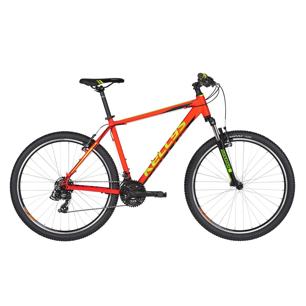 "Horský bicykel KELLYS MADMAN 10 26"" - model 2019 Neon Orange - XXS - Záruka 10 rokov"