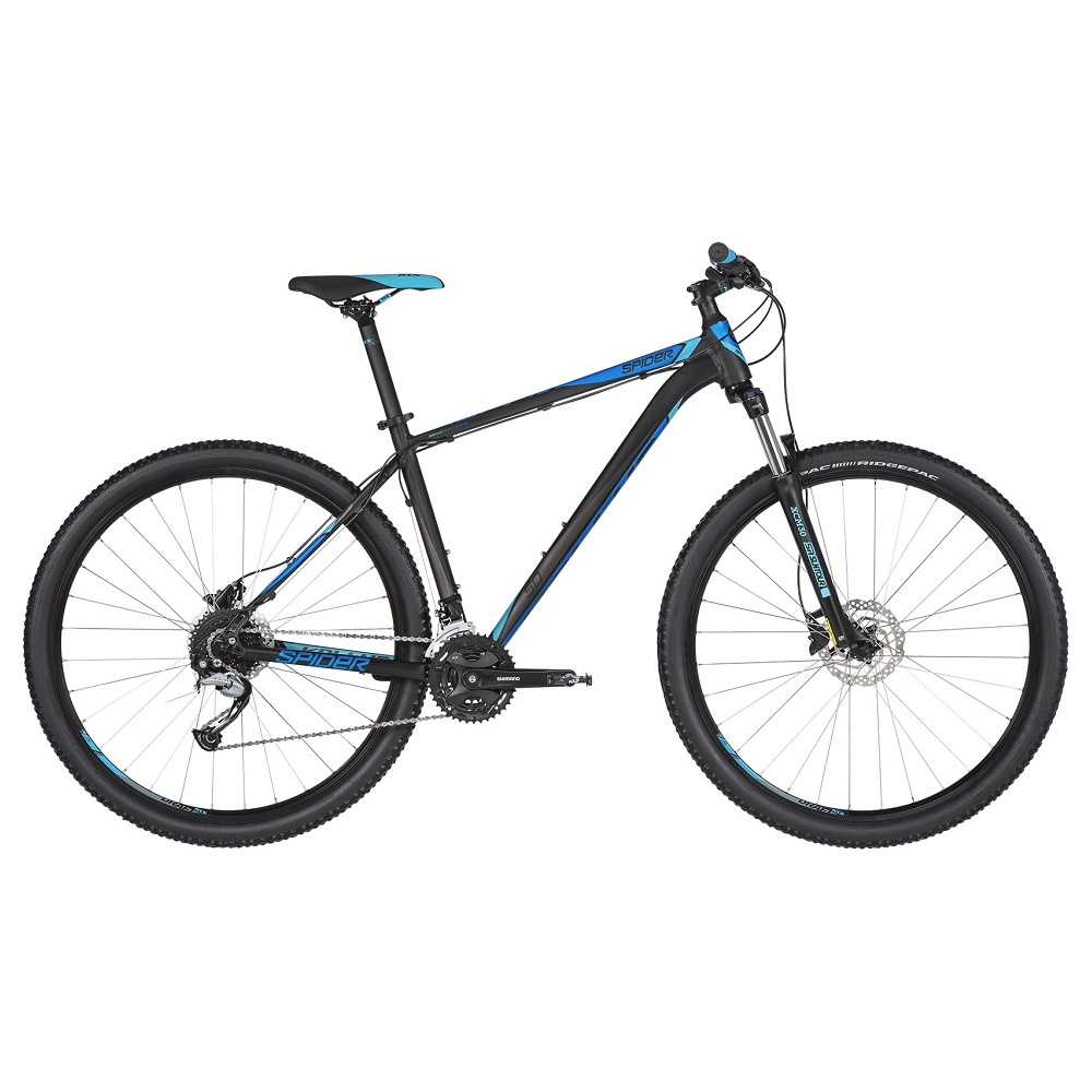 "Horský bicykel KELLYS SPIDER 50 29"" - model 2019 Black Blue - S (17'') - Záruka 10 rokov"