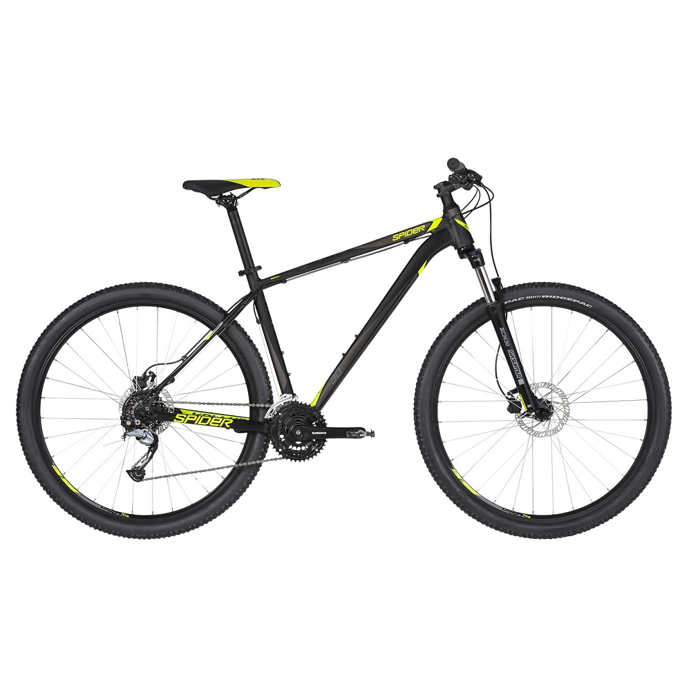 "Horský bicykel KELLYS SPIDER 30 29"" - model 2019 Black - S (17'') - Záruka 10 rokov"
