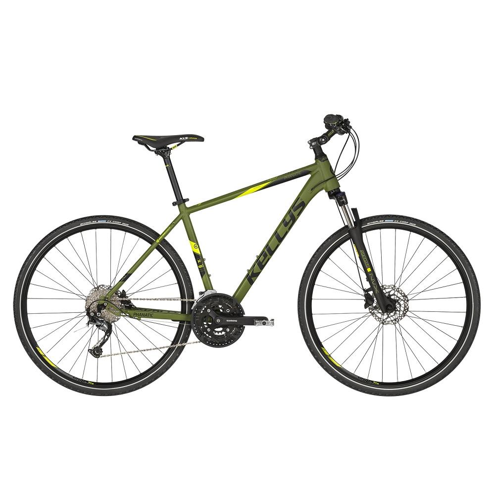 """Pánsky crossový bicykel KELLYS PHANATIC 30 28"""" - model 2019 Olive - XL (23"""") - Záruka 10 rokov"""