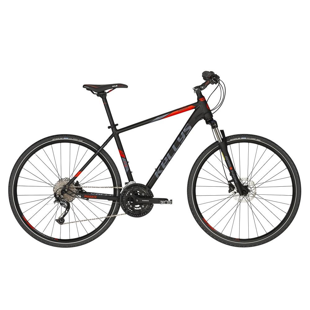 """Pánsky crossový bicykel KELLYS PHANATIC 30 28"""" - model 2019 Black - M (19'') - Záruka 10 rokov"""