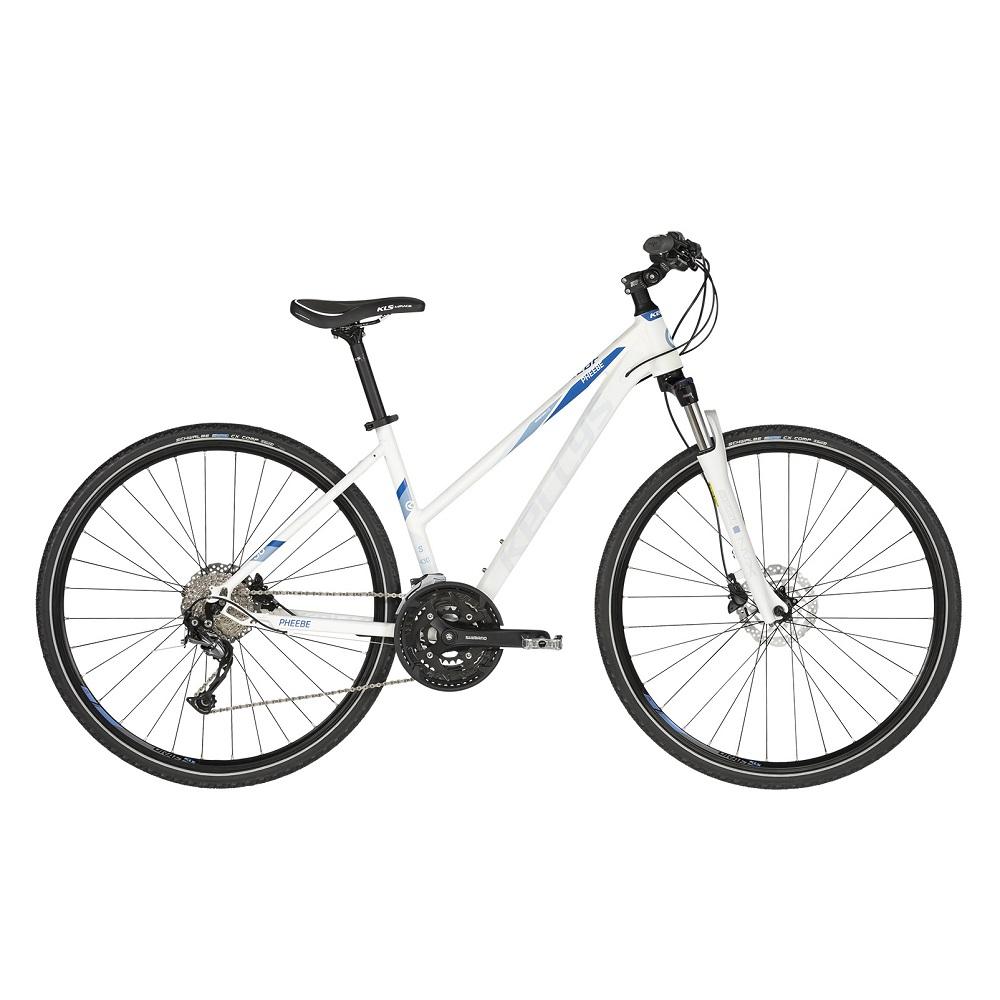 """Dámsky crossový bicykel KELLYS PHEEBE 30 28"""" - model 2020 White - S (17'') - Záruka 10 rokov"""