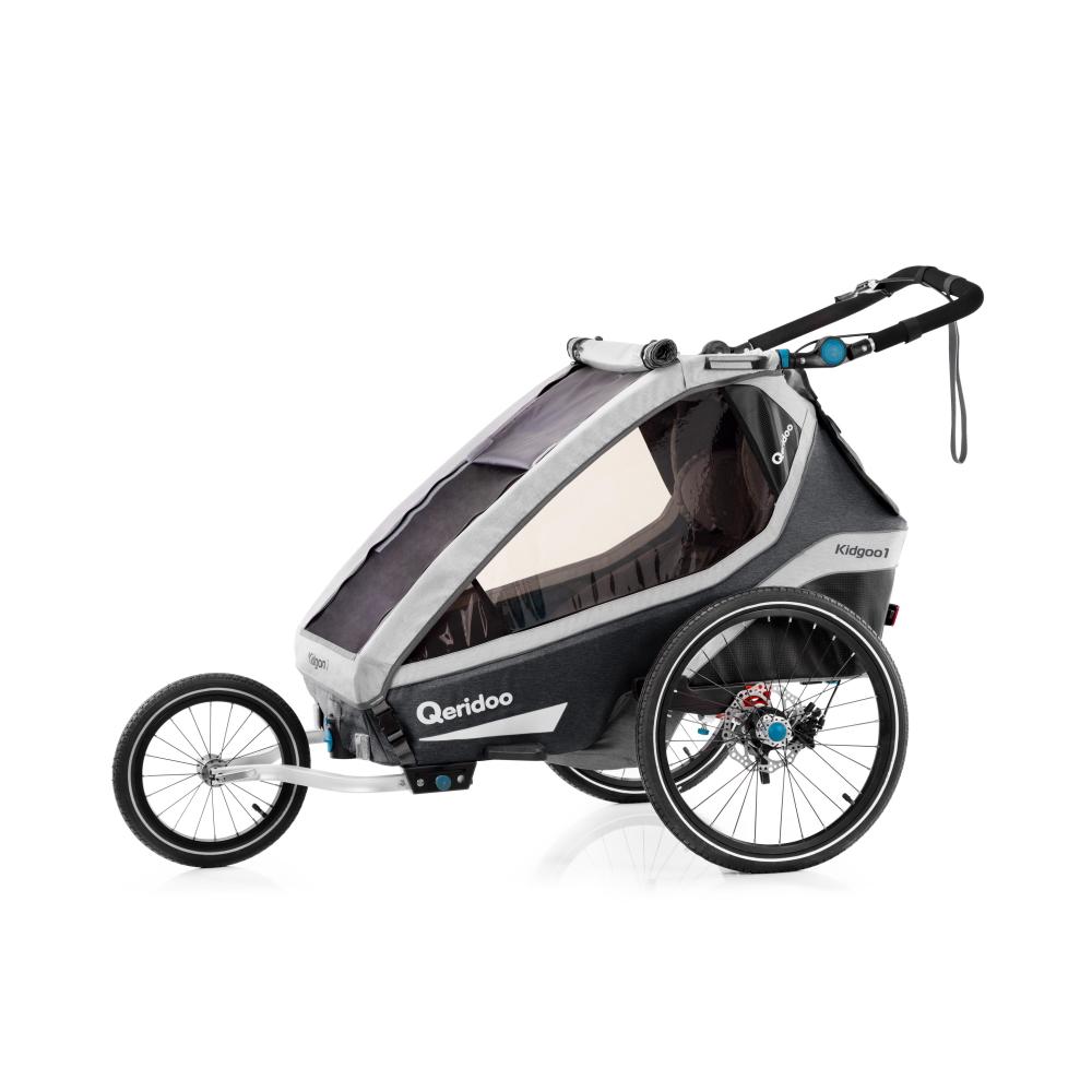 Multifunkčný detský vozík Qeridoo KidGoo 1 Pro Anthracite Grey