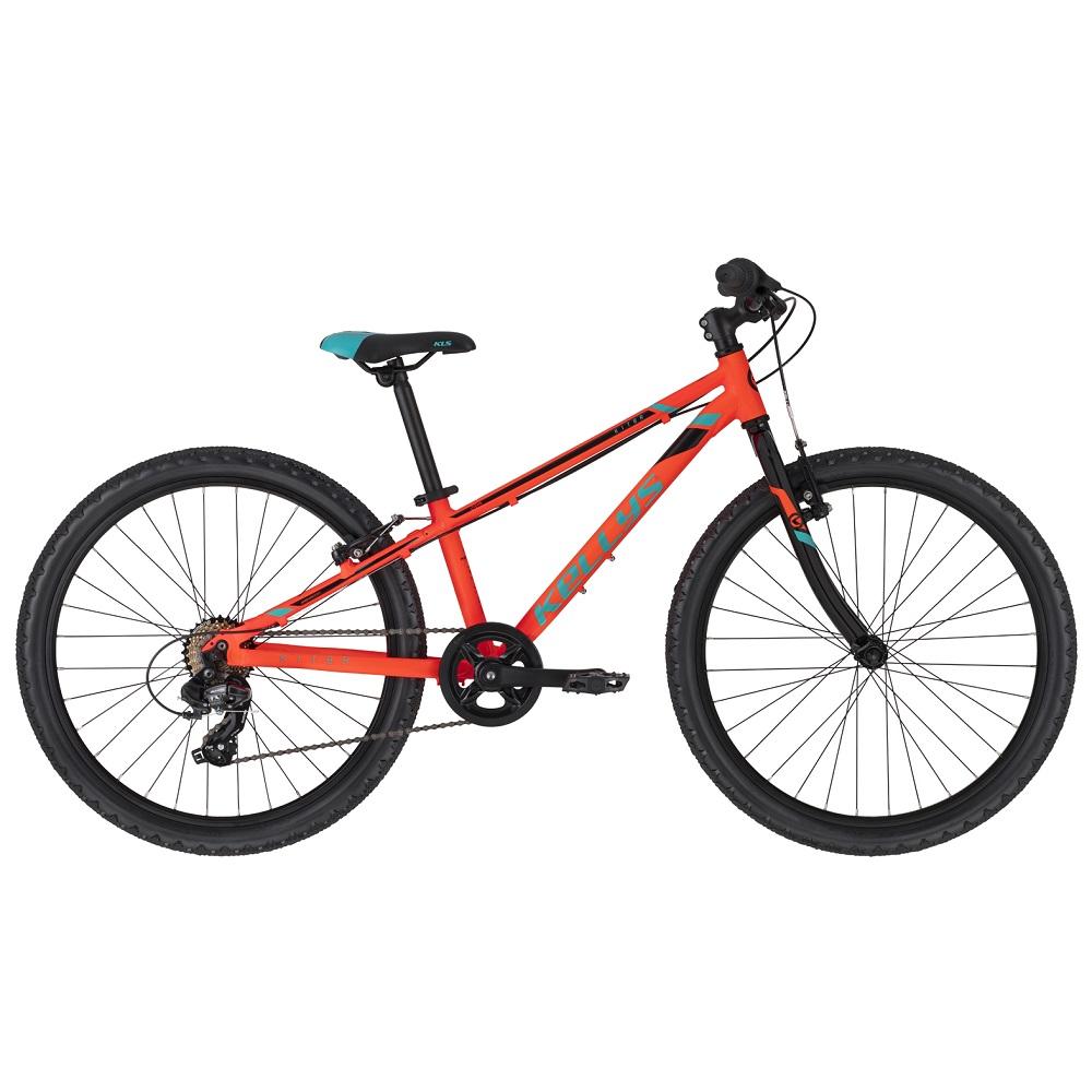 "Juniorský bicykel KELLYS KITER 30 24"" - model 2020 Neon Orange - 11"" - Záruka 10 rokov"