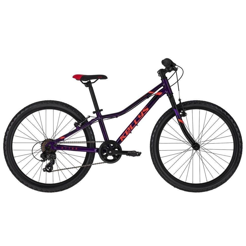 "Juniorský bicykel KELLYS KITER 30 24"" - model 2020 Purple - 11"" - Záruka 10 rokov"