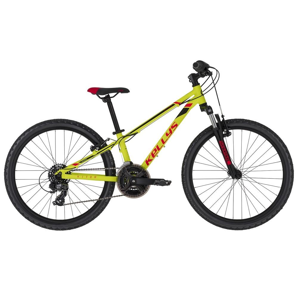 "Juniorský bicykel KELLYS KITER 50 24"" - model 2020 Neon Yellow - 11"" - Záruka 10 rokov"