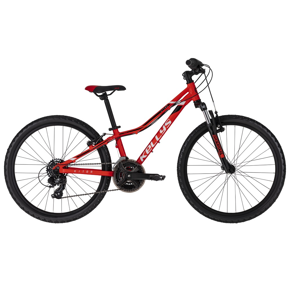 "Juniorský bicykel KELLYS KITER 50 24"" - model 2020 Red - 11"" - Záruka 10 rokov"