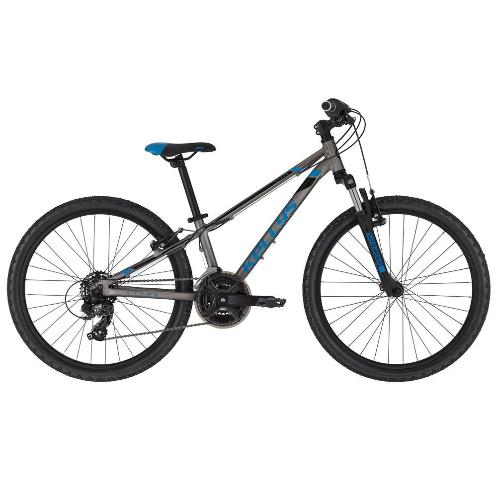 "Juniorský bicykel KELLYS KITER 50 24"" - model 2020 Titanium Blue - 11"" - Záruka 10 rokov"