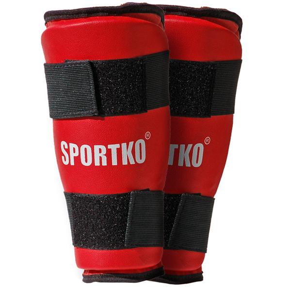 Chrániče holene SportKO 332 červená - L