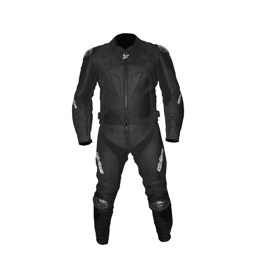 Kožená kombinéza Rebelhorn LIZZARD čierna - XL