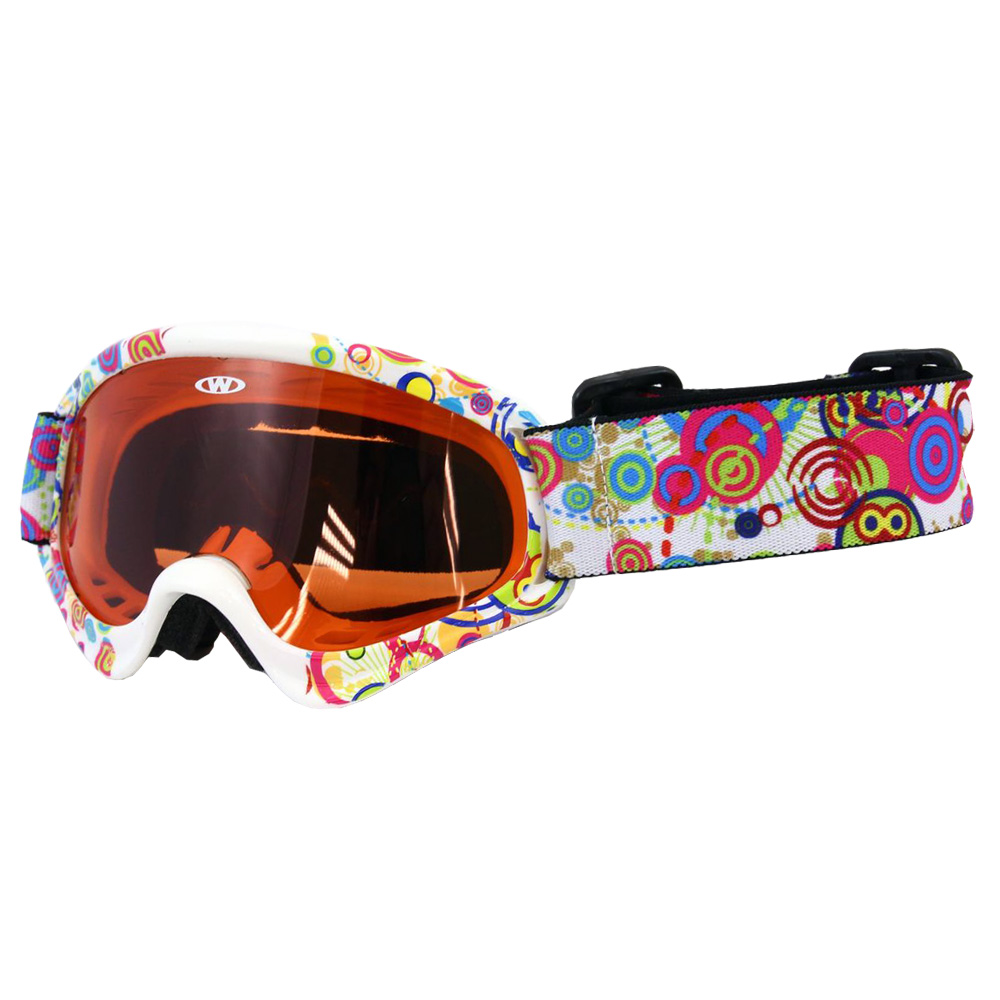 Detské lyžiarske okuliare WORKER Sterling s grafikou Z12-WHT-biela graf. 3e56ea48dc1