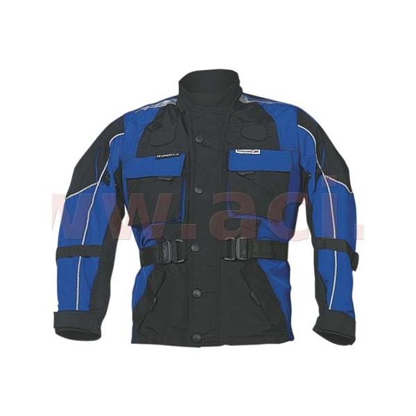 Detská moto bunda ROLEFF Kids modro-čierna - M