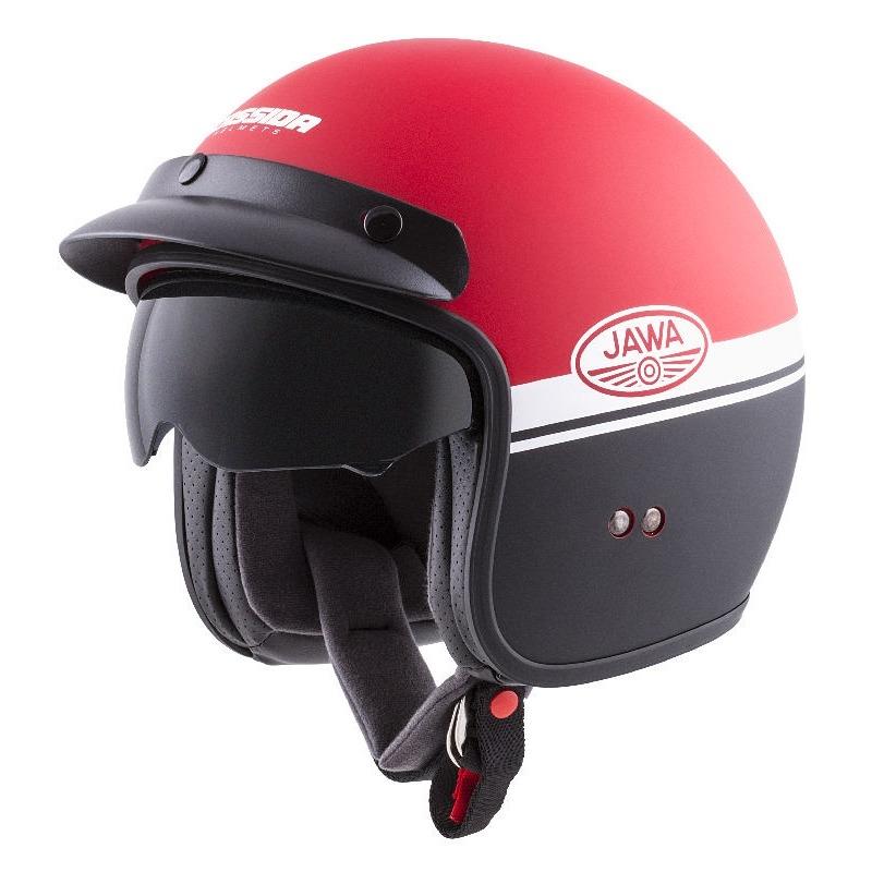 Moto prilba Cassida Oxygen Jawa OHC červená matná/čierna/biela - XXL (63-64)