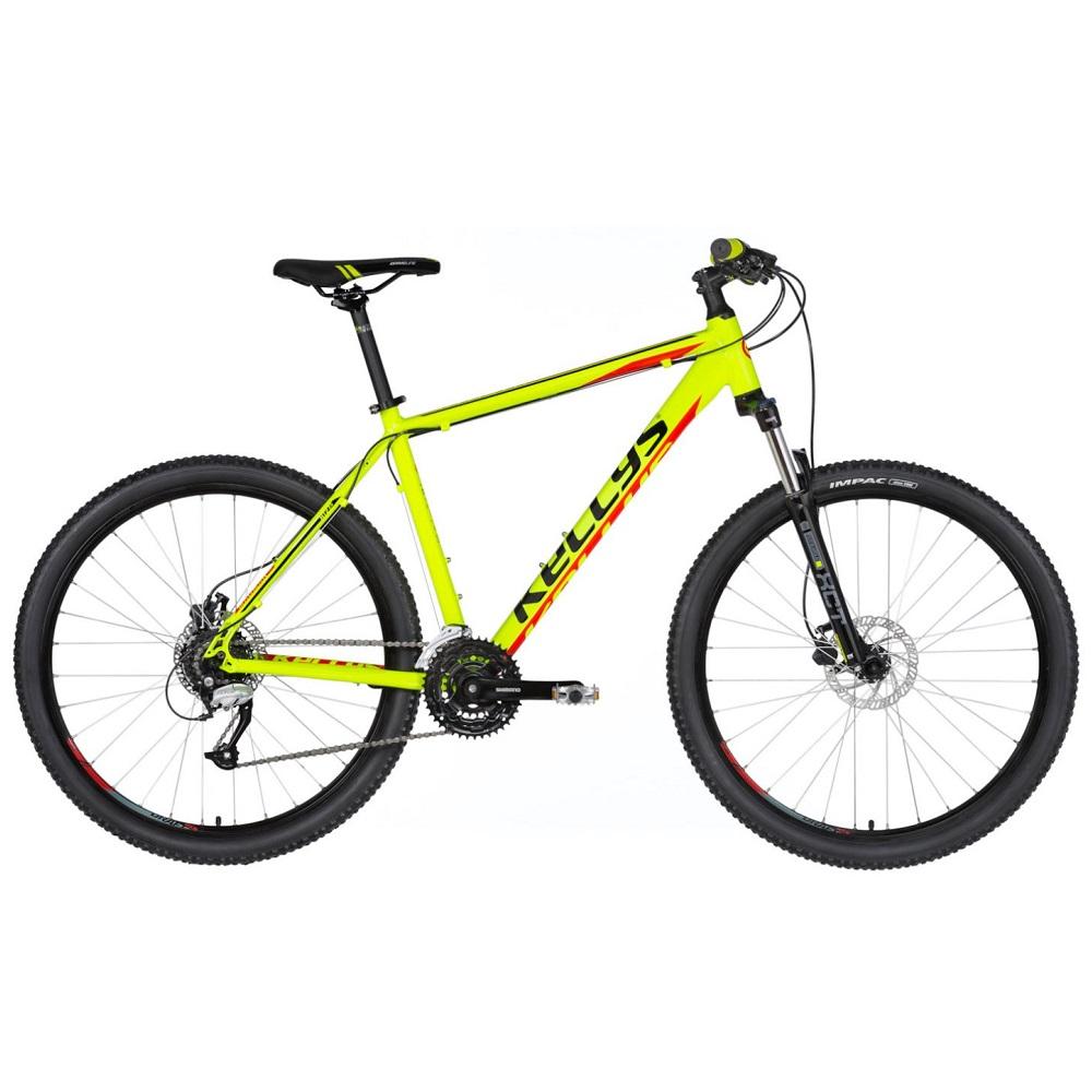 "Horský bicykel KELLYS MADMAN 50 27,5"" - model 2020 Neon Lime - S (17'') - Záruka 10 rokov"