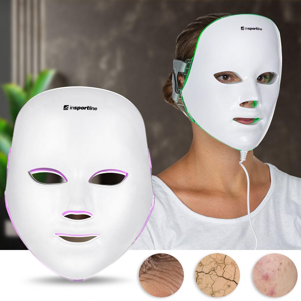 Ošetrujúca LED maska na tvár inSPORTline Manahil