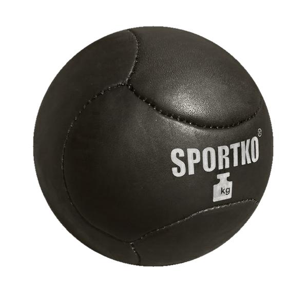 Kožený medicinbal SportKO Medbol 8kg
