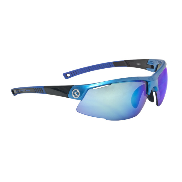 Cyklistické okuliare KELLYS Force Sky Blue, modrá s duhovými modrými sklami