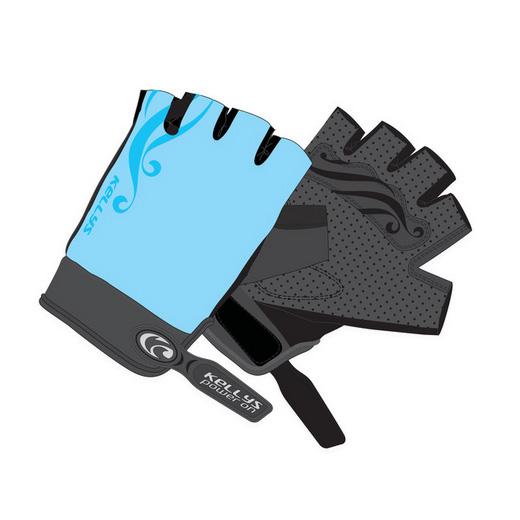 Dámské cyklo rukavice KELLYS SUNNY SHORT modrá - XL