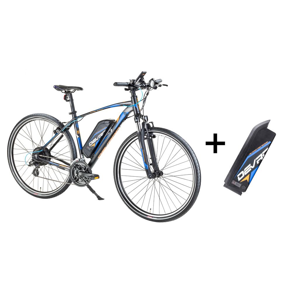 """Crossový elektrobicykel Devron 28161 28"""" s náhradnou batériou 14,5 Ah - model 2017 Black - 19"""" - Záruka 10 rokov"""