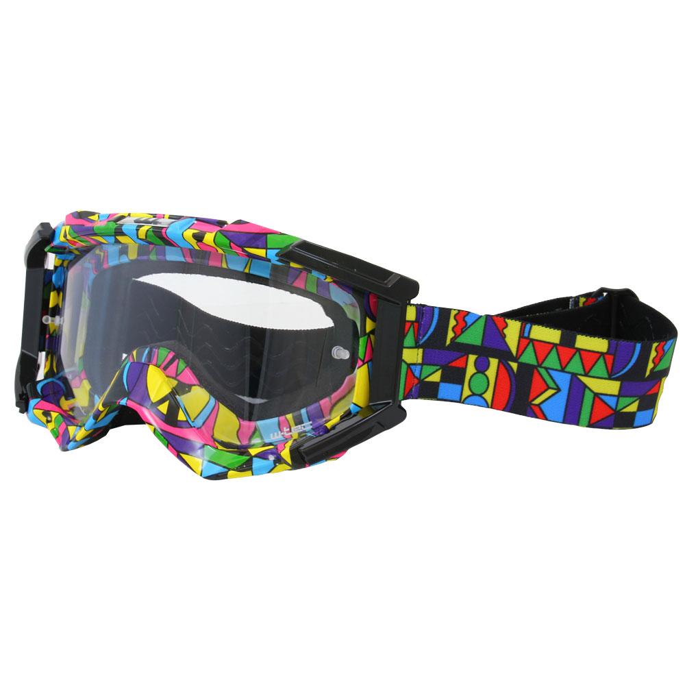 Motokrosové okuliare W-TEC Major s grafikou