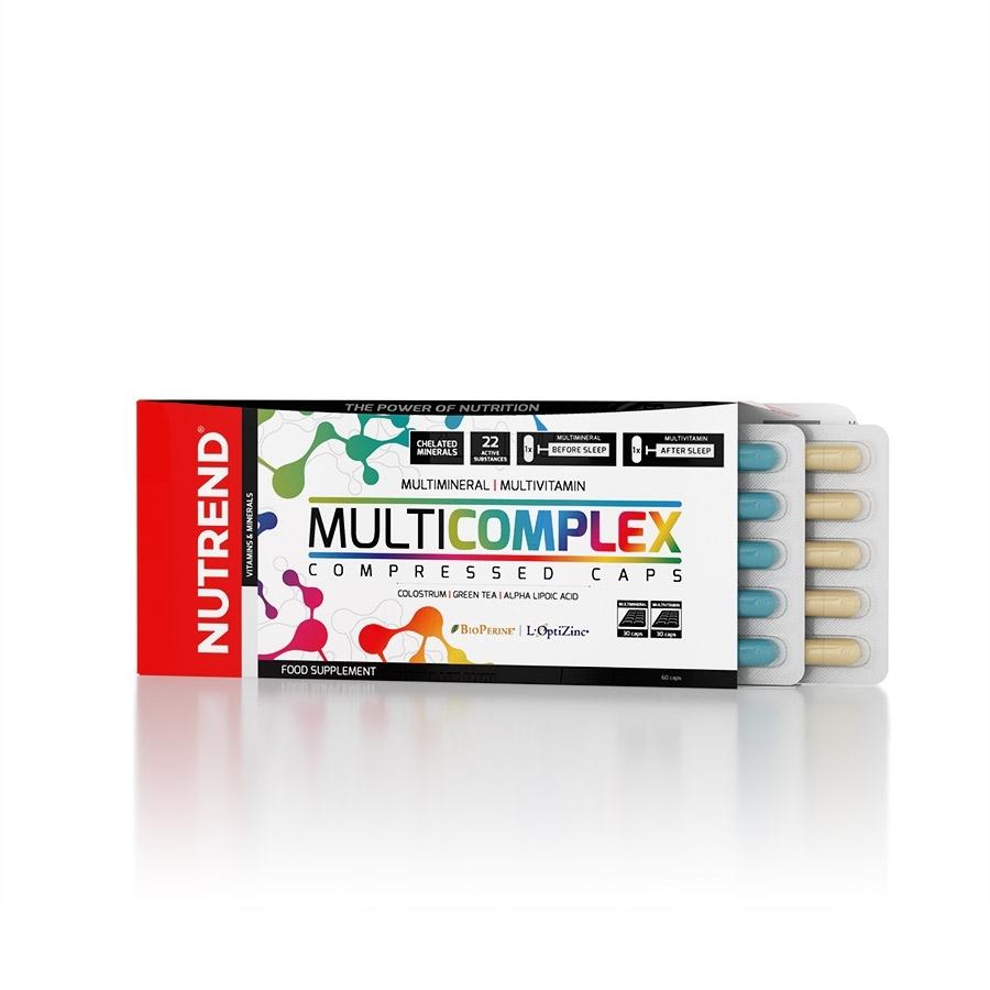 Vitamíny a minerály Nutrend Multicomplex Compressed Caps 60 kapsúl