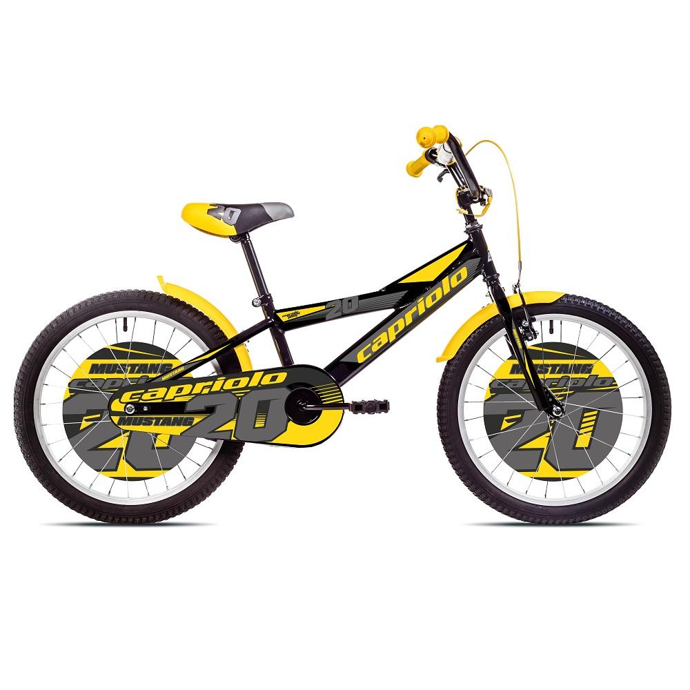 "Detský bicykel Capriolo Mustang 20"" - model 2017 čierno-žltá"