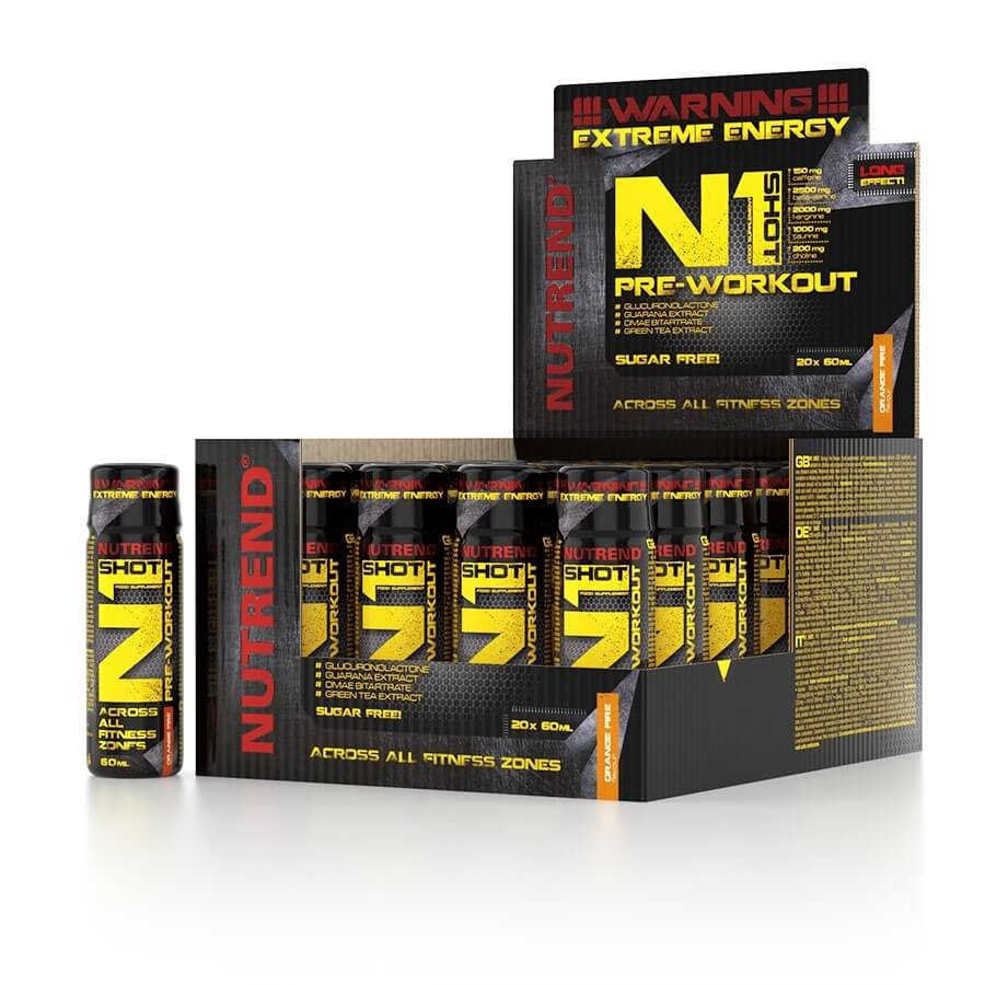 Stimulant Nutrend N1 Shot 20x60 ml orange fire