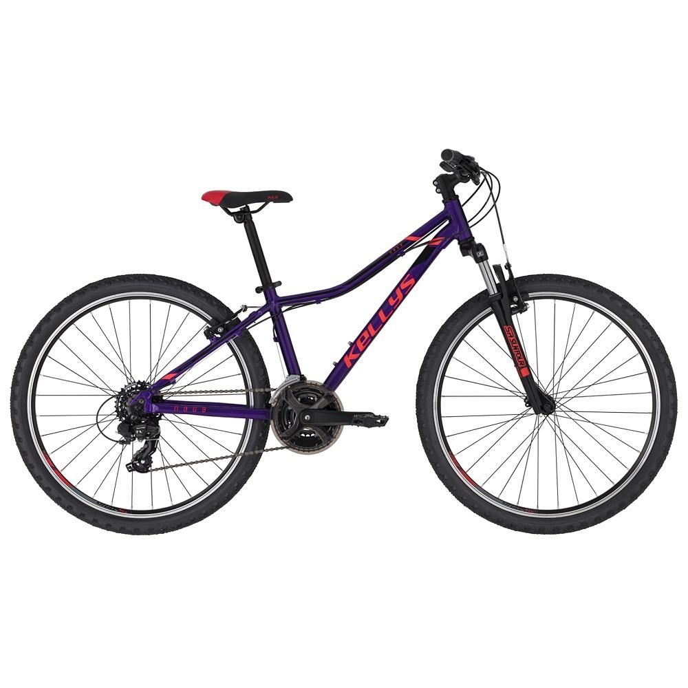 "Juniorský bicykel KELLYS NAGA 70 26"" - model 2021 Purple - 13,5"" - Záruka 10 rokov"