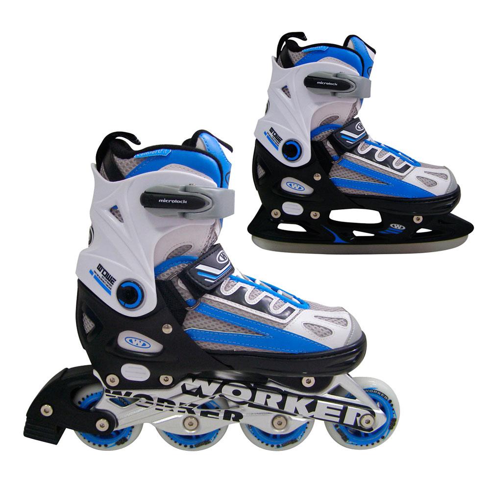 Nastaviteľné korčule WORKER Nolan 2v1 modrá - S (33-36)