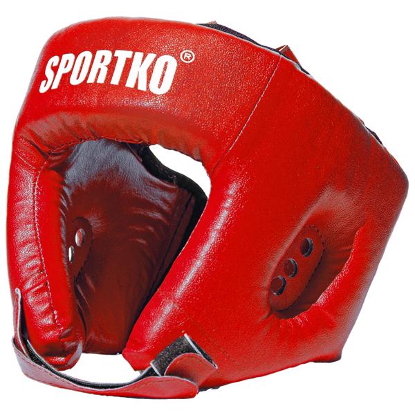 Boxerský chránič hlavy SportKO OD1 červená - M