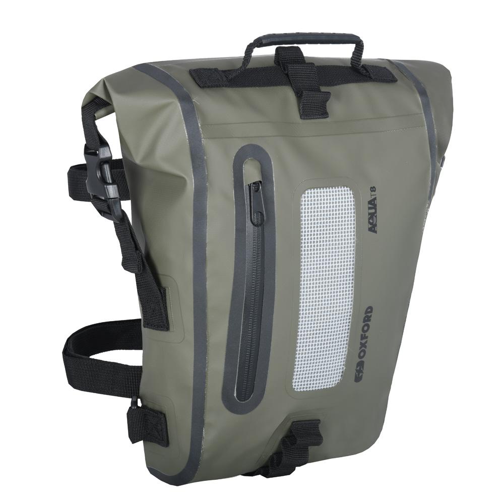 Taška na sedlo Oxford Aqua T8 Tail Bag khaki/čierna