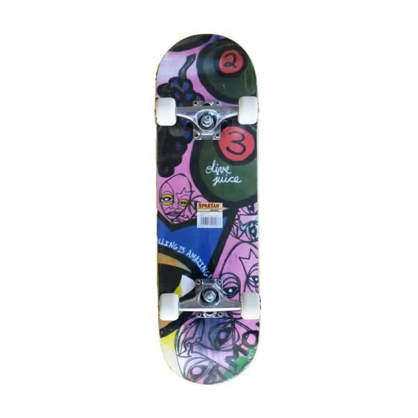 Skateboard Spartan Circle Star Olive Juice Abstract