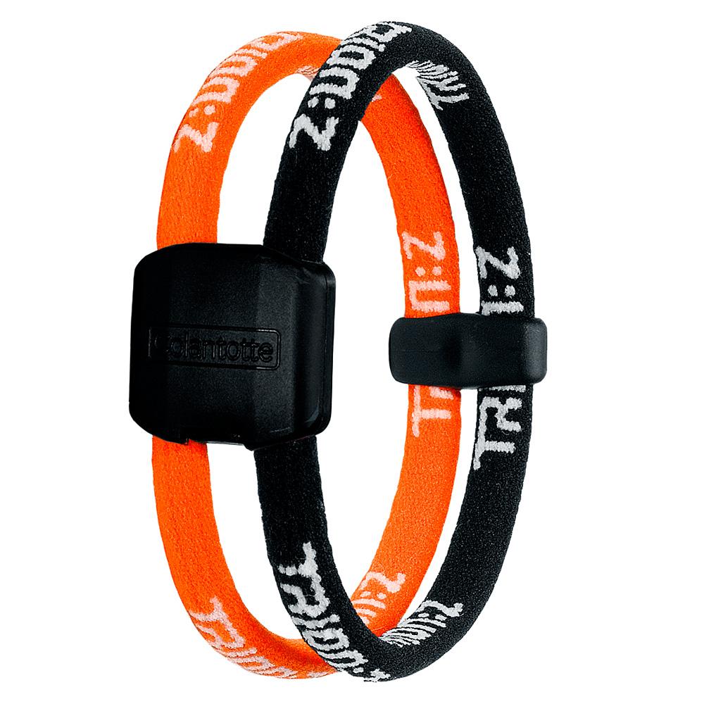Náramok TRION:Z Dual čierno-oranžová - S