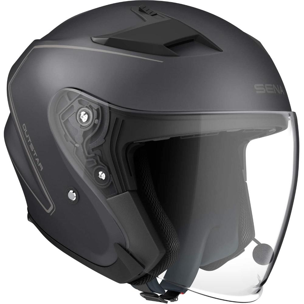 Moto prilba SENA Outstar s integrovaným headsetom matne čierna - L (59-60)