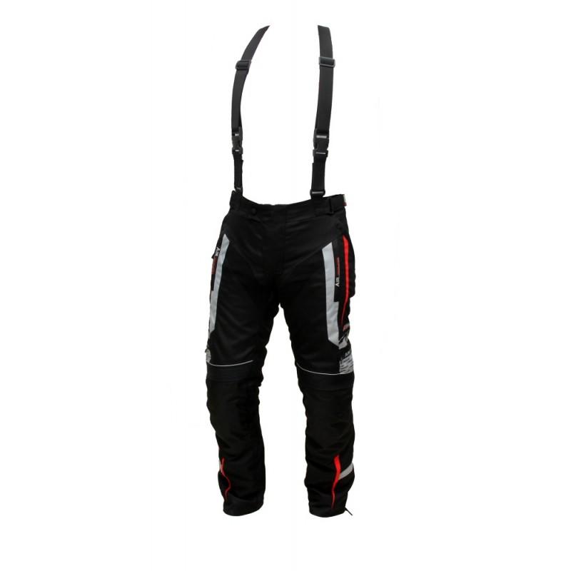 Pánske textilné moto nohavice Spark Mizzen červeno-čierna - XL