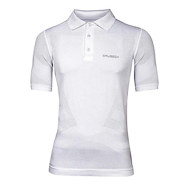 5f592799a Pánske thermo polo tričko Brubeck PRESTIGE s límcom - biela ...