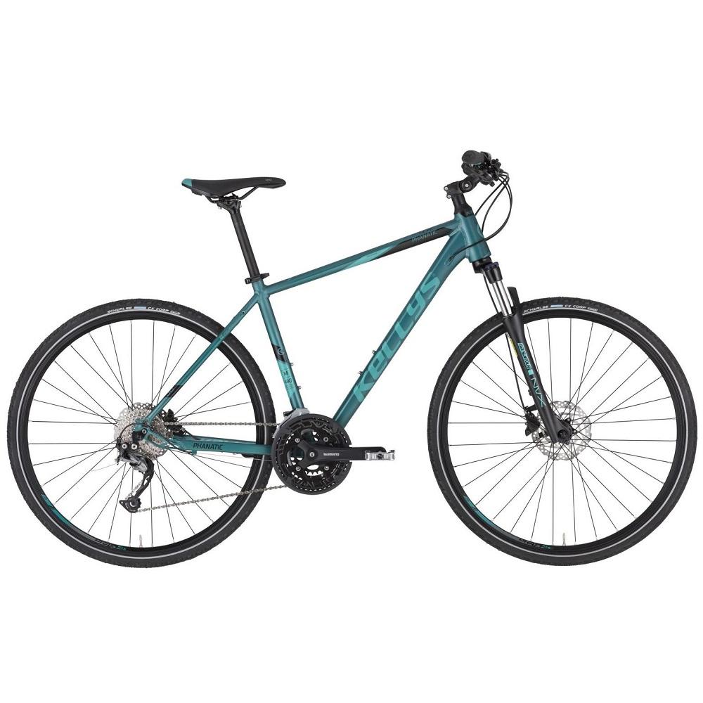 """Pánsky crossový bicykel KELLYS PHANATIC 30 28"""" - model 2020 Teal - M (19'') - Záruka 10 rokov"""