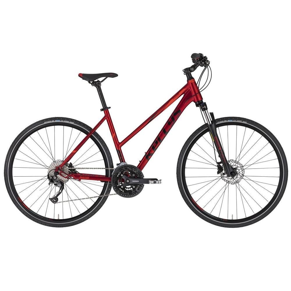 """Dámsky crossový bicykel KELLYS PHEEBE 30 28"""" - model 2020 Dark Red - M (19'') - Záruka 10 rokov"""