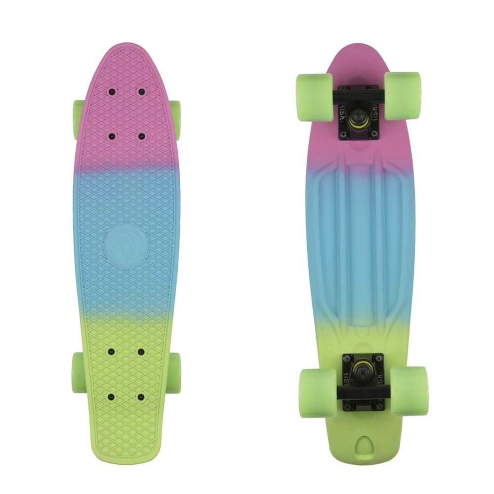 """Penny board Fish Classic 3Colors 22"""" Summer Pink-Summer Blue-Green"""