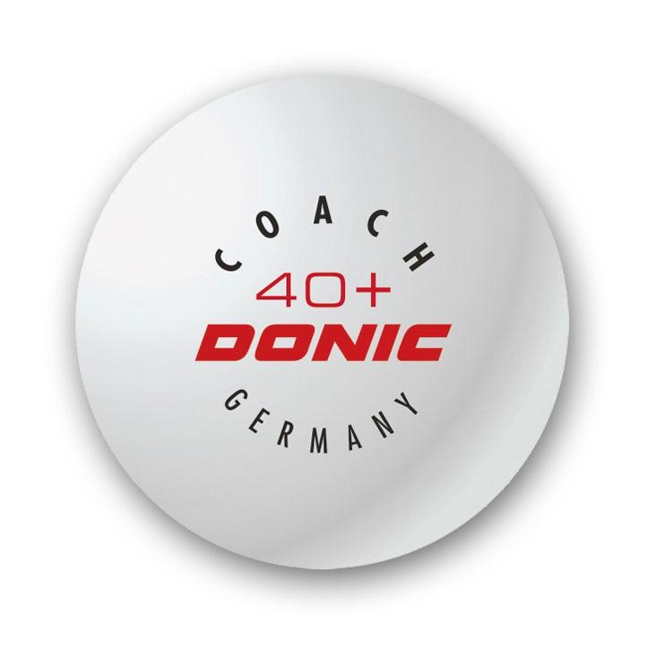Pingpongové loptičky Donic 40+ Coach biele 6ks