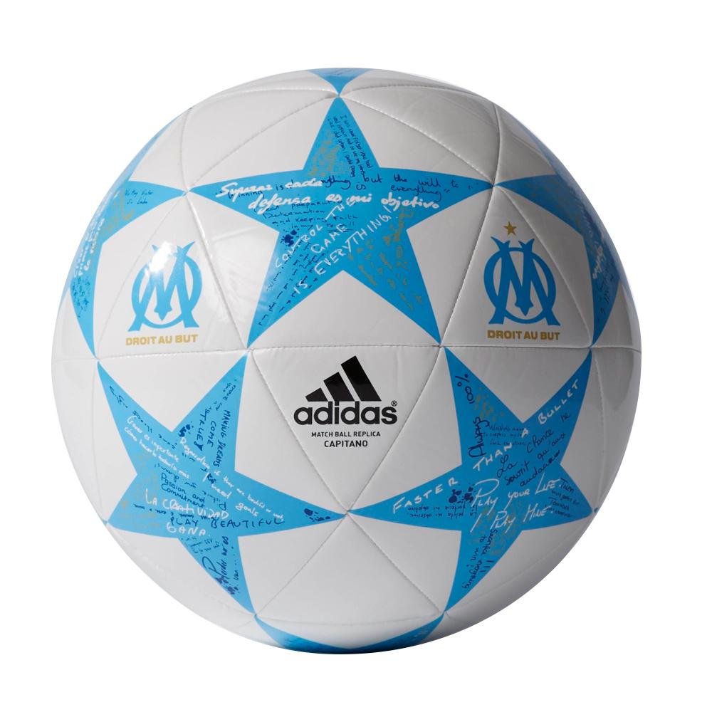 71a931525 Futbalová lopta Adidas Capitano Finale 16 Olympique Marseille AP0403 bielo- modrá